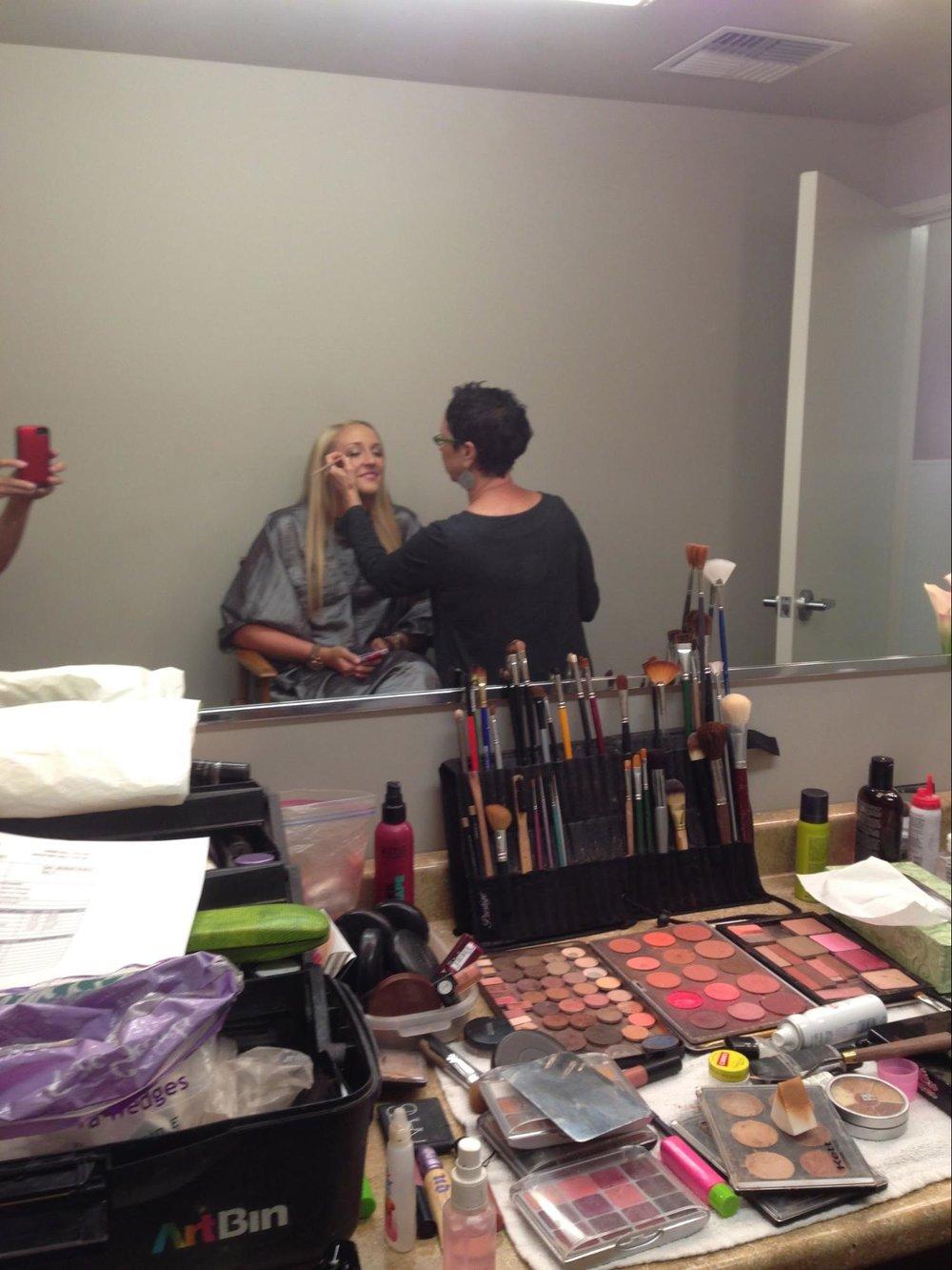 Jenny on makeup