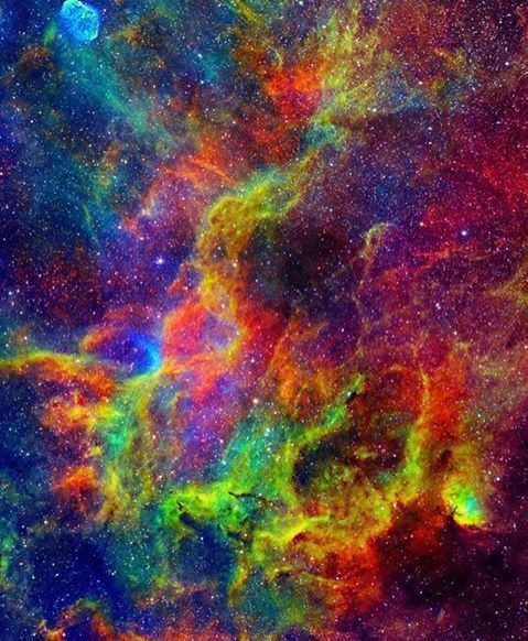 The magnificent Tulip Nebula - one of the most vibrant rainbow nebulas in our sky -  ©  ESA/Hubble