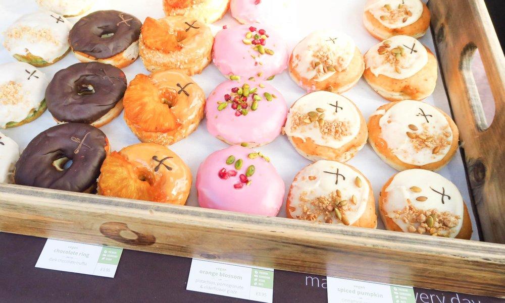 Doughnuts from Cross Town doughnuts.