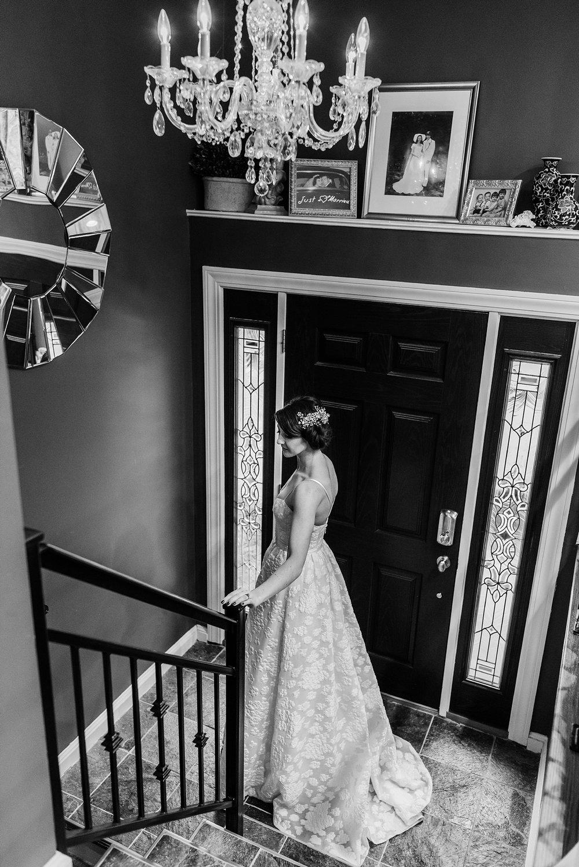 bride getting ready in lowell, ma