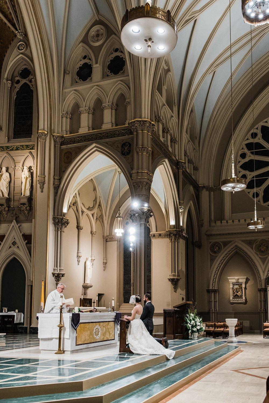 wedding ceremony photo in historic massachusetts church