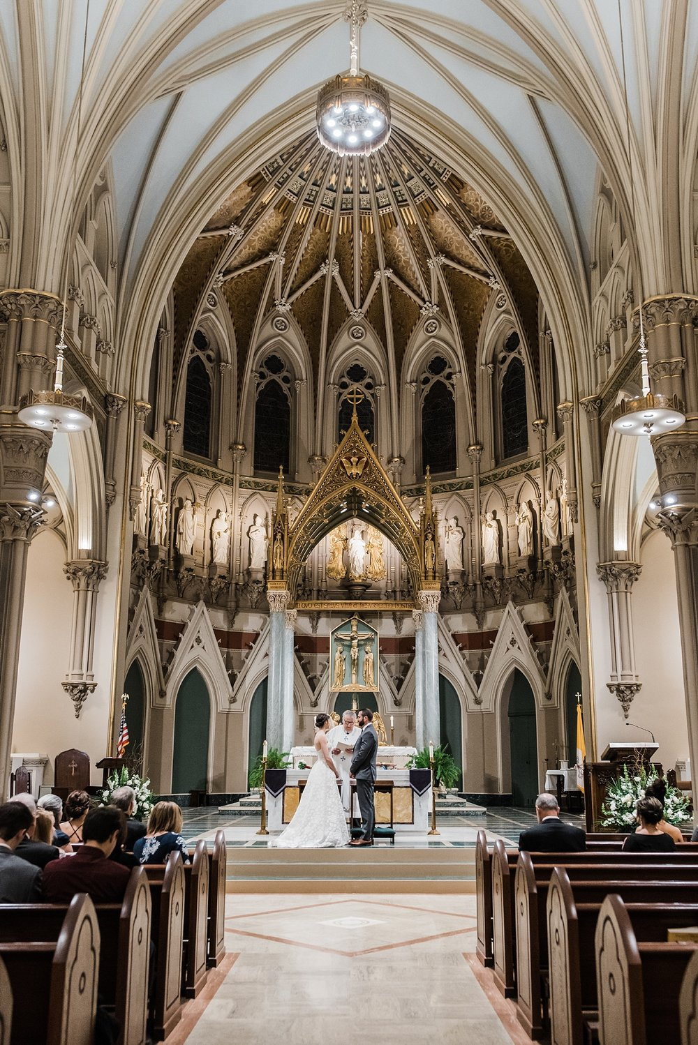 beautiful wedding photo immaculate conception church lowell