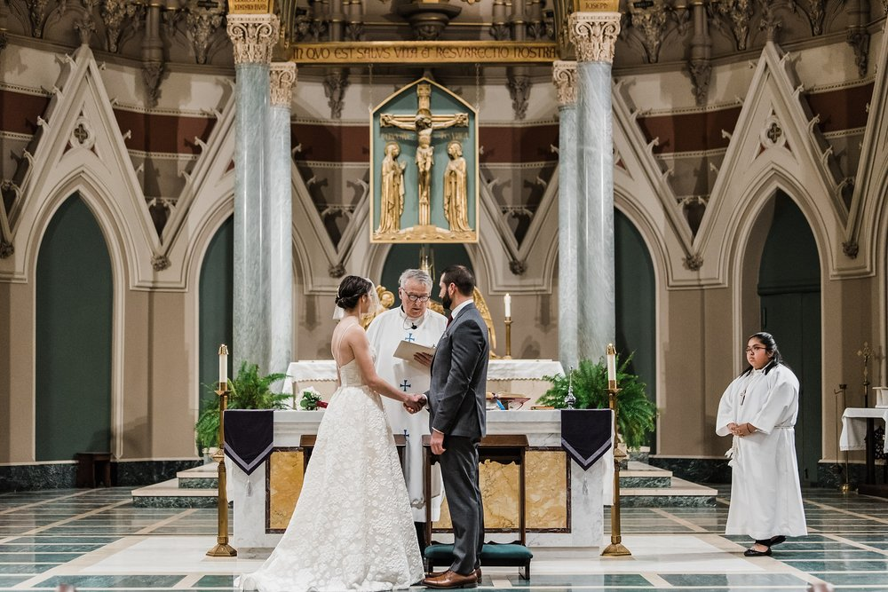 bride and groom vows immaculate conception church