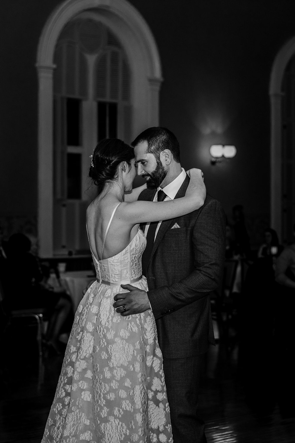 wedding photo of first dance andover town house