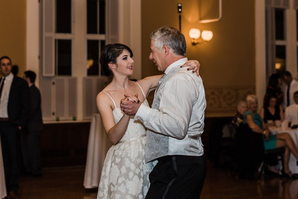 father and bride dance wedding reception