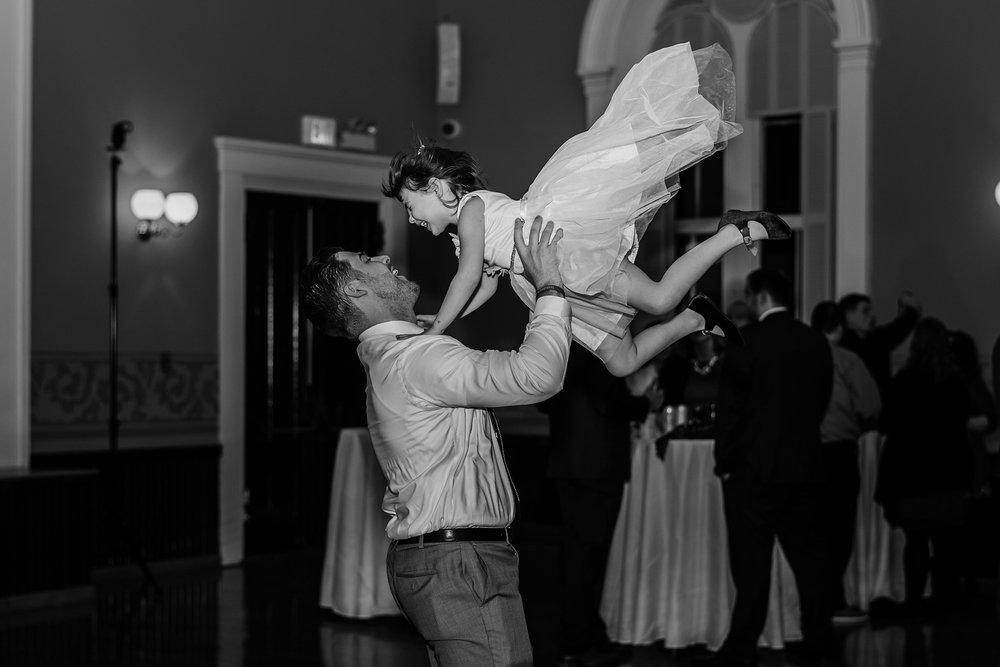 photo of wedding reception fun andover town house