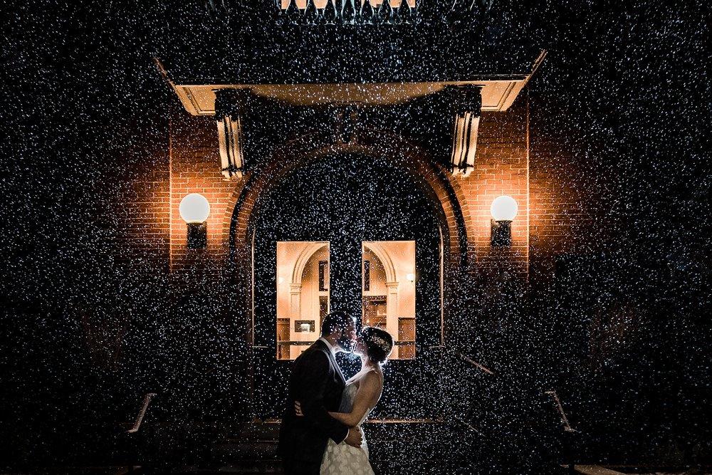 night wedding photo andover, massachusetts