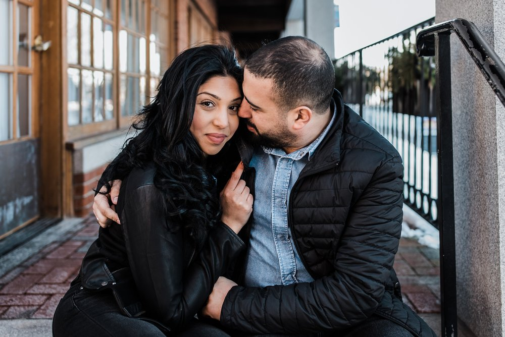 beautiful engagement in downtown newburyport