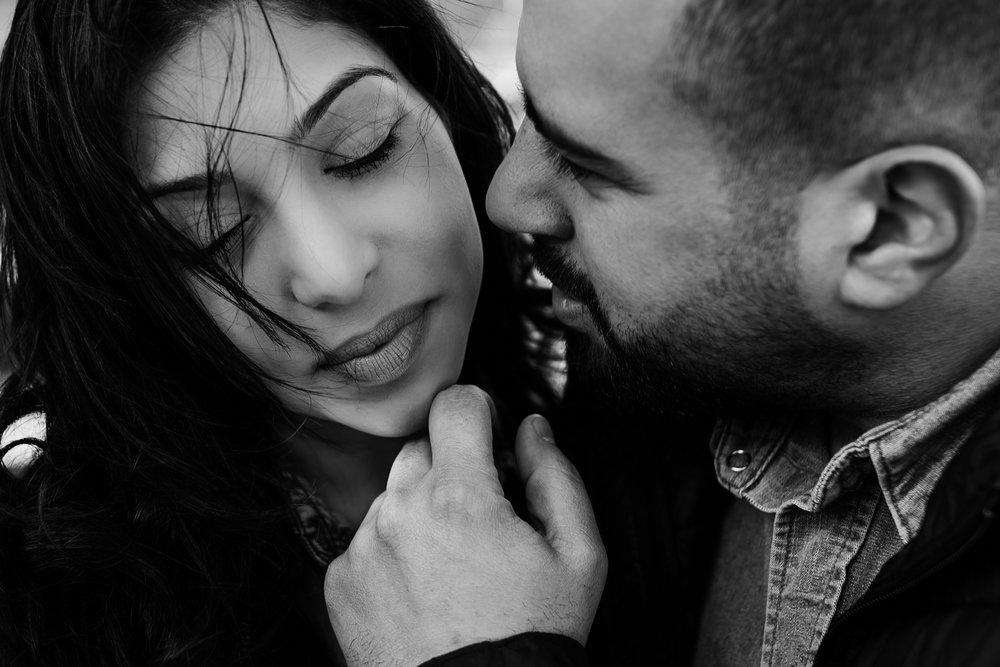 intimate beautiful boston couple photo