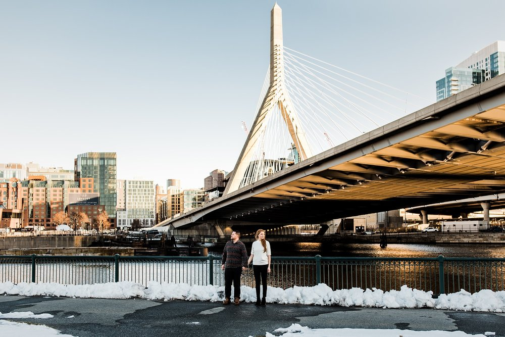 engagement photography with boston skyline