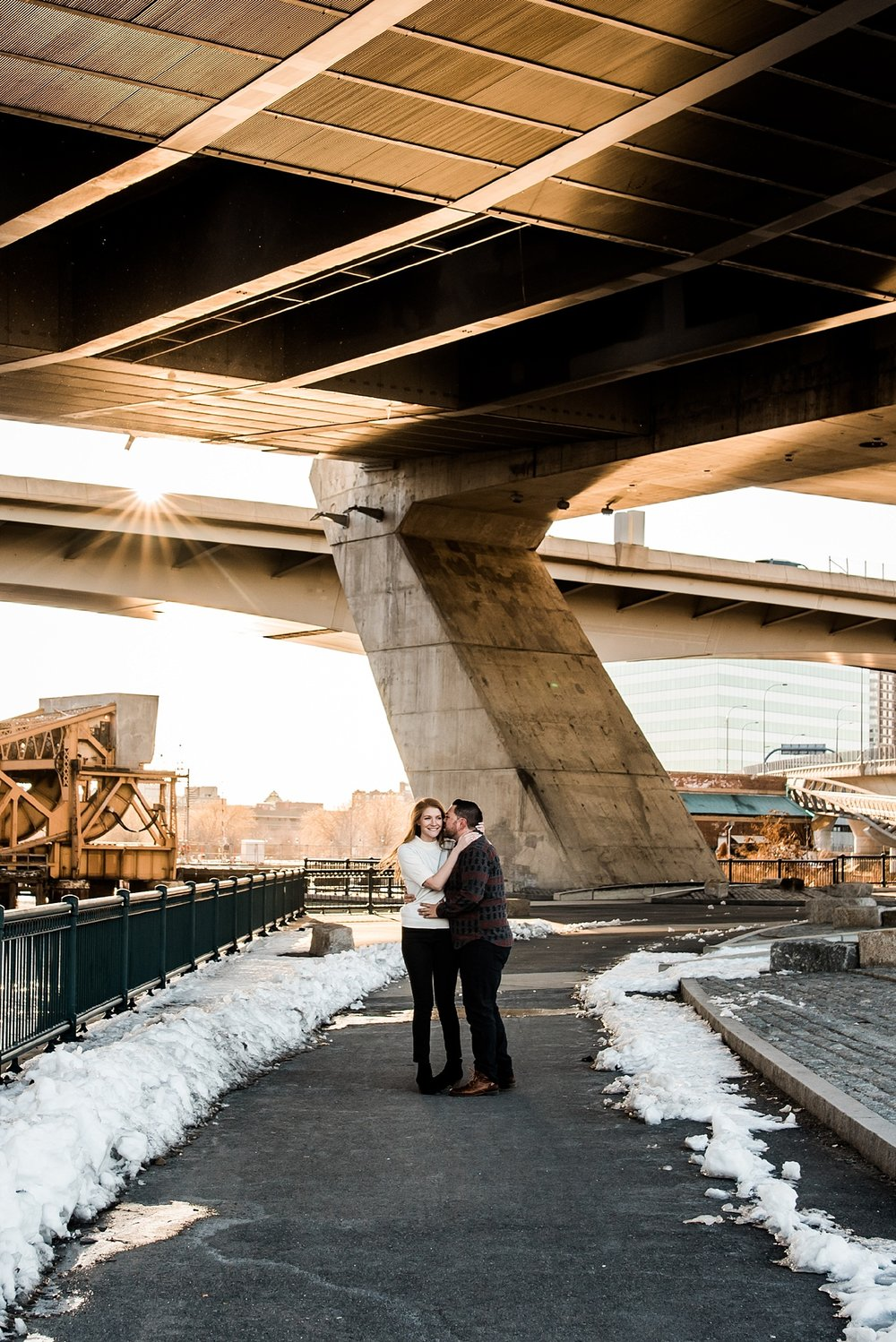 city engagement photo in boston