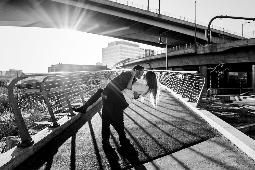 engagement photo in paul revere park