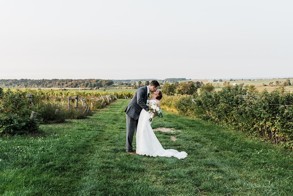 tug hill vineyard bride and groom photo