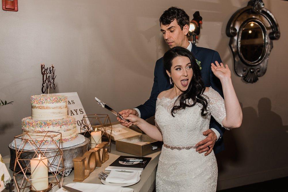 boston wedding cake cutting