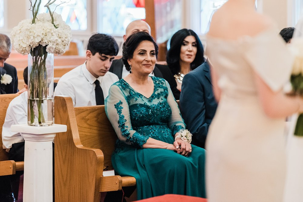 mother of the groom at ceremony