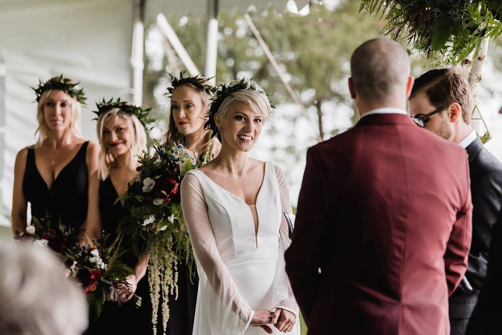 bride during ceremony photo