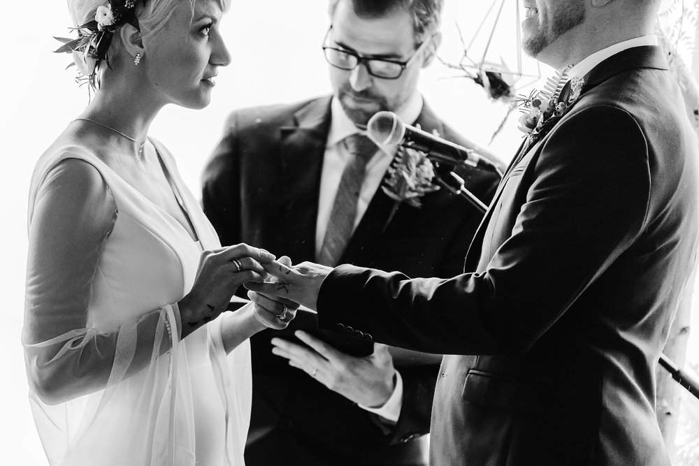 exchanging of rings photo