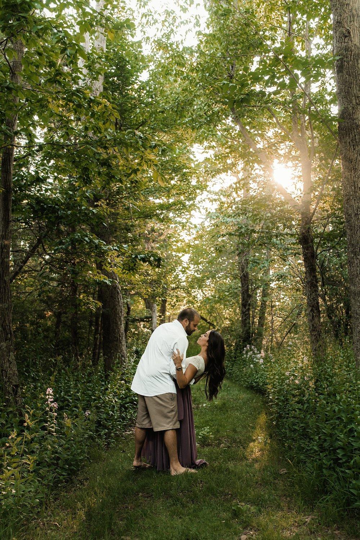 syracuse engagement session woods
