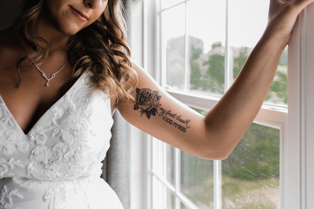 wedding day tattoo photo