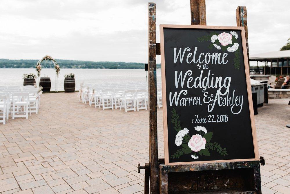 wedding signs canandaigua country club