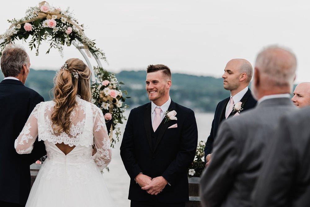 groom seeing bride wedding ceremony