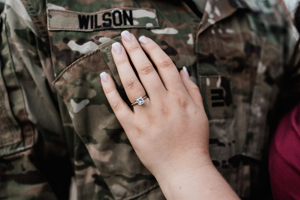 army engagement photo