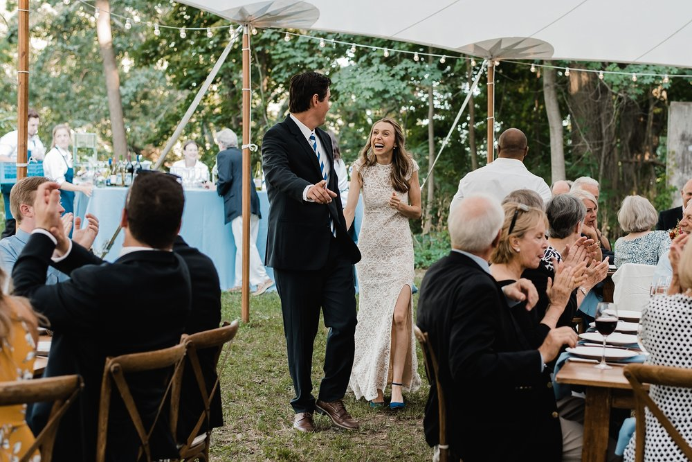 new york backyard wedding photo