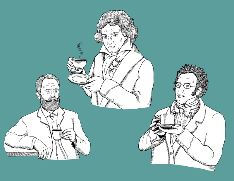 Composers and coffee