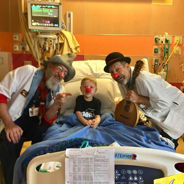 As a mom it truly means so much more when the clowns stop by - and the stress of a day just seems to float away when you're stuck in a hospital room.