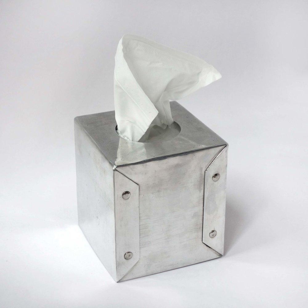 tissue box (aluminum)