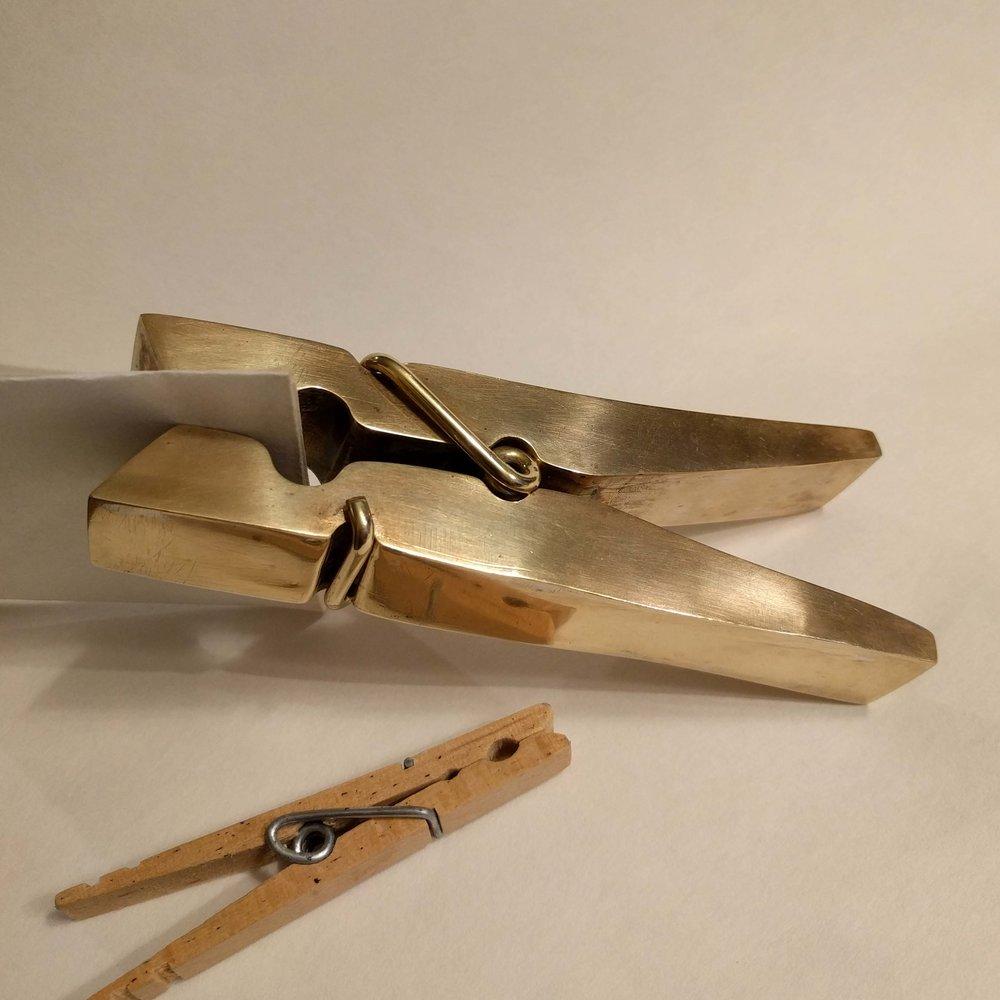 working clothespin (brass sheet metal, brass rod)
