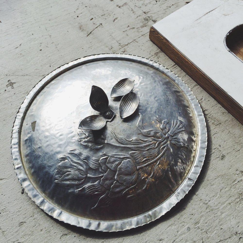 1950s aluminum dish lid