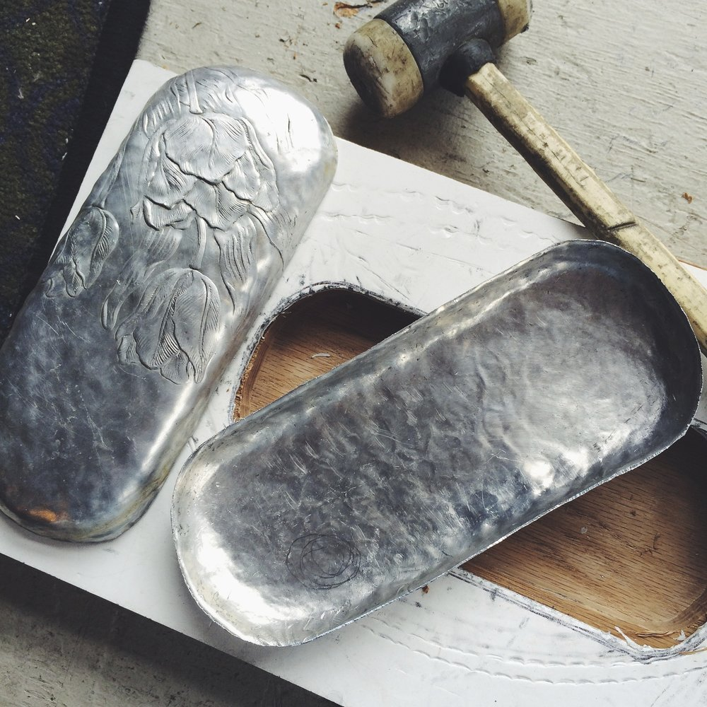 two matching clam shells from mold