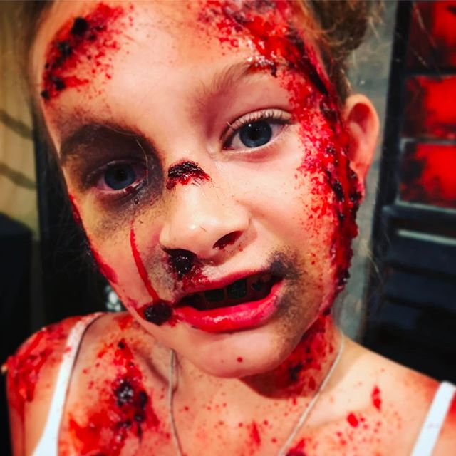 So much fun at What Now yesterday. Kristen turned daughter Harley into a Zombie!! @whatnownz #specialfxmakeupschool #specialfxartist #specialfxmakeup #makeupartist #makeupschool #zombie #childzombie #tv #gruesome