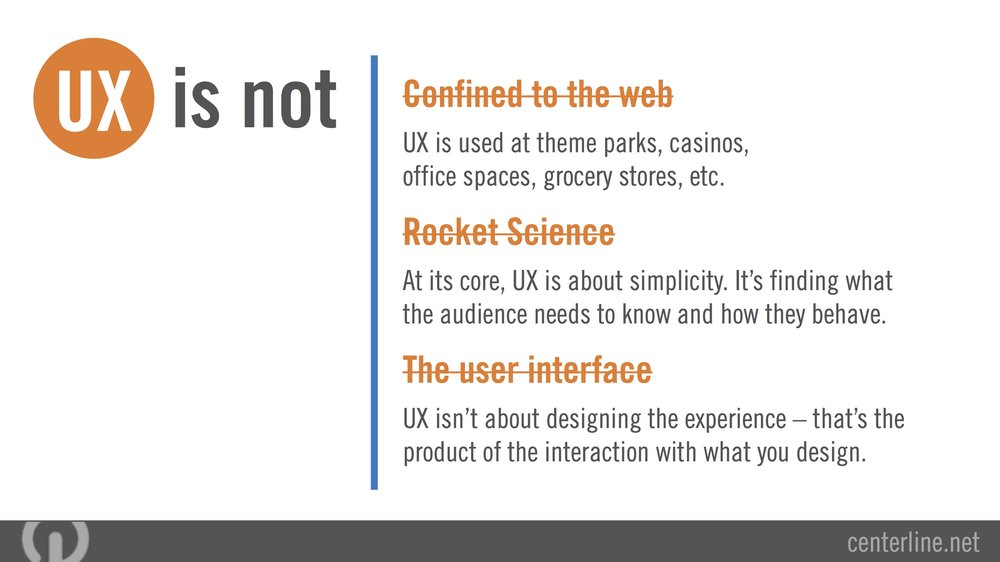 Why User Experience Matters Slideshare Presentation Designed during my role as Marketing Coordinator/Graphic Designer at Centerline Digital.