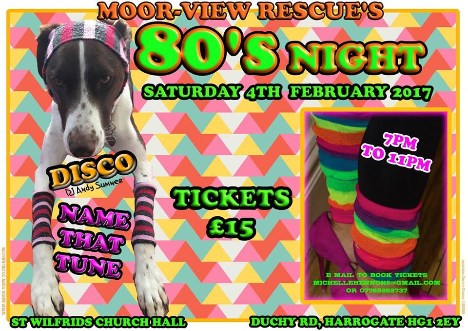 Moorview 80's Music Quiz and Disco — MOOR-VIEW RESCUE