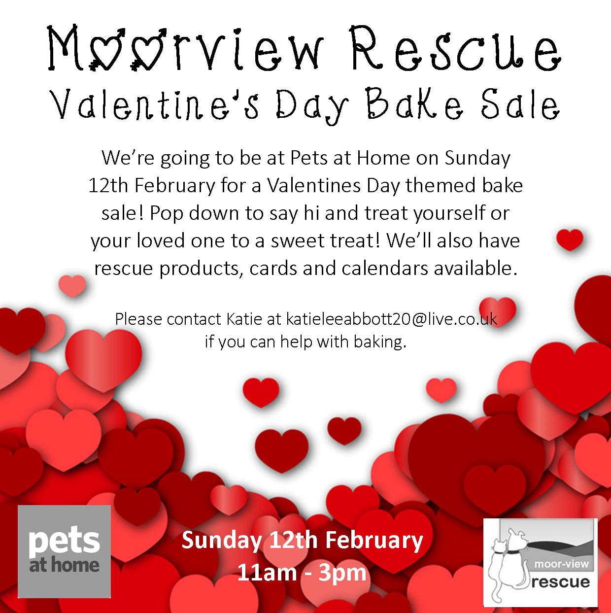 Valentine S Themed Bake Sale Moor View Rescue