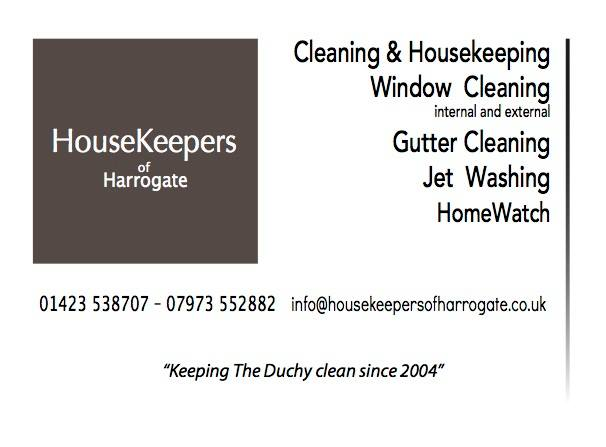 Thank you to House Keepers of Harrogate for sponsoring the Dog Walk.