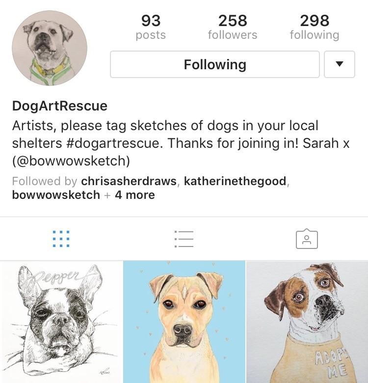 Follow @DogArtRescue on Instagram