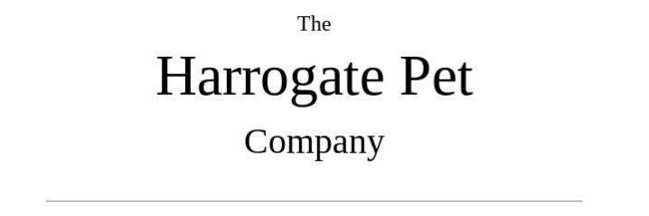 Thank you to The Harrogate Pet Company for sponsoring the Hollywood Ball