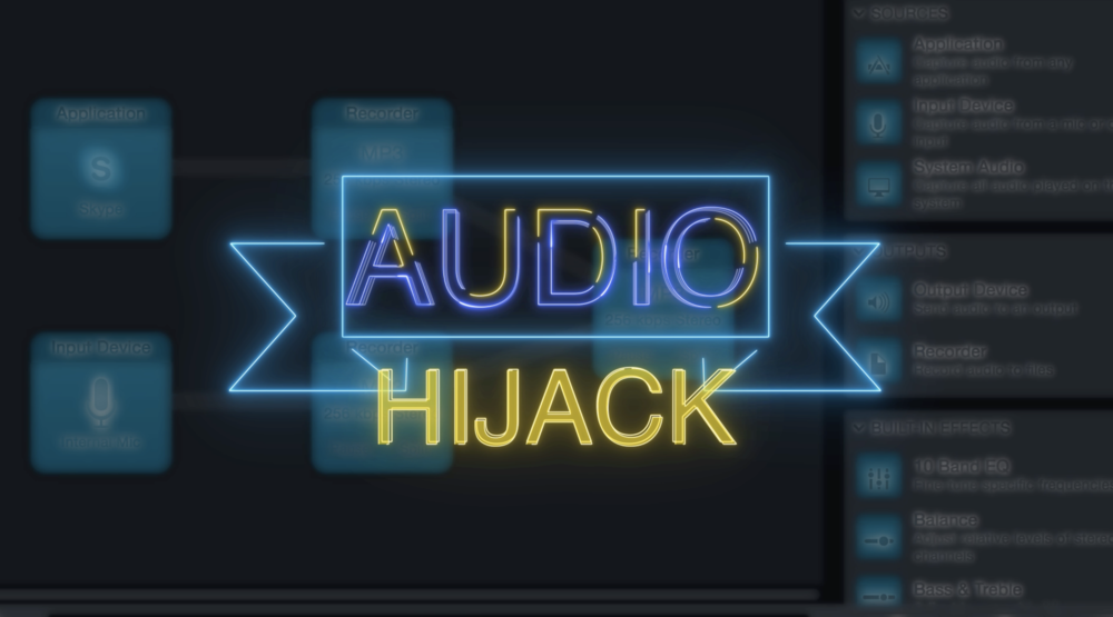 CLICK THE ABOVE IMAGE TO WATCH A BRIEF TUTORIAL ON AUDIO HIJACK DOWNLOAD AUDIO HIJACK AT:    https://rogueamoeba.com/audiohijack/