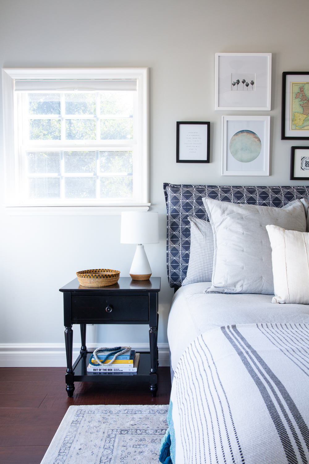 Lexington Hills bedroom interior design project by Sundling Studio located in Southern California.
