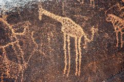 Prehistoric rock art by hunters, Niger.