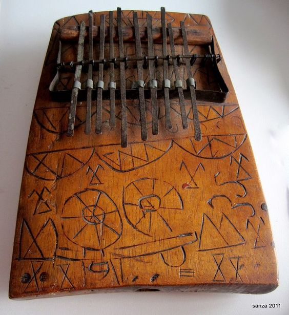 A thumb piano made by the Pygmies.
