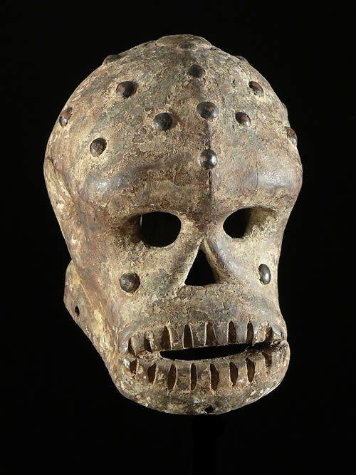 A mask of the Ekpo secret society,Ibibio tribe.