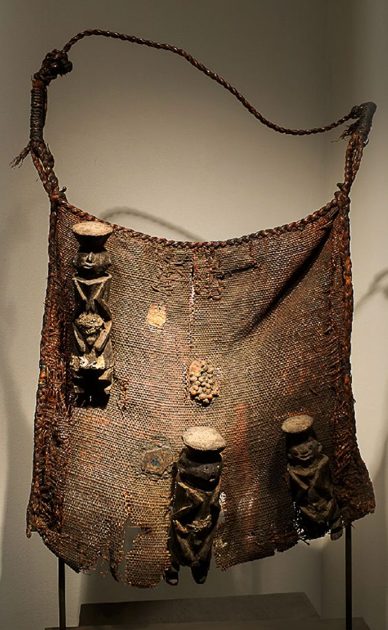 A Chamba diviner's bag from Nigeria.