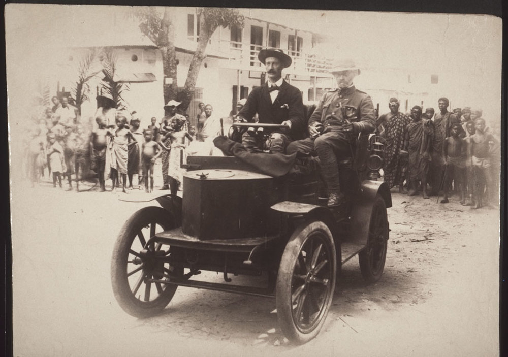 Above: Ghana's first automobile, driven by the British governor (1895).