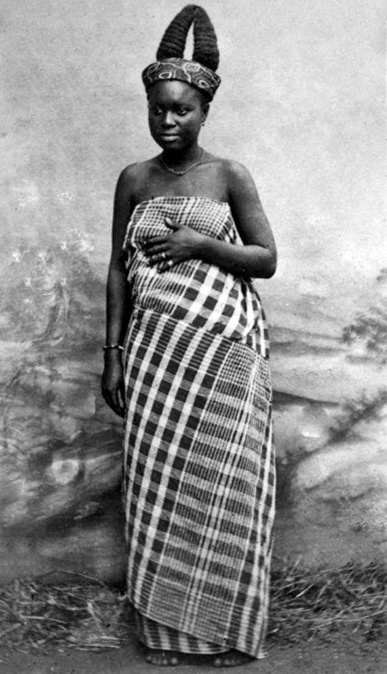 A Ga girl in Adda, Ghana, ca. 1883-88.