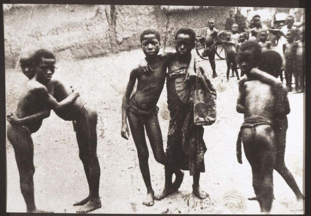 A street in Ghana ca. 1890.