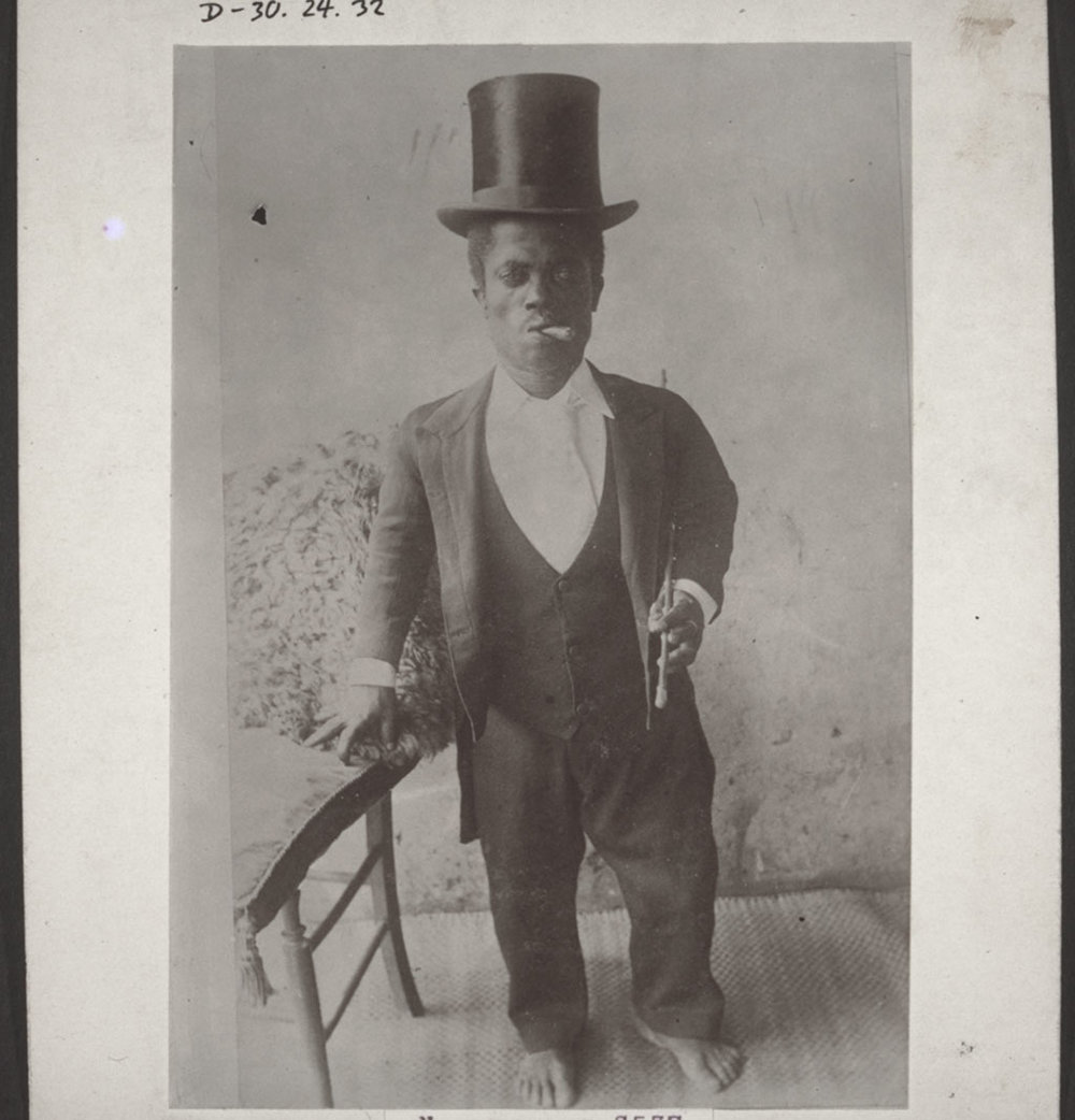 A photo from 1889: a Cameroonese dwarf.